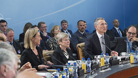 NATO defense ministers meet at NATO headquarters in Brussels on Oct. 27, 2016. (Courtesy of NATO)
